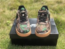 Nike AF1 joint low-top,  camouflage leaf color,pair of casual shoes