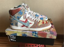 Nike SB What The Dunk High, graffiti color matching super original logo, corporate level