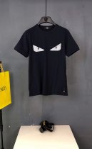 Fendi man spring and summer new blood little monster willow nail eyes round collar short sleeve T-shirt