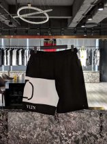 Valentino 19 spring and summer, the latest patchwork shorts, black and white design