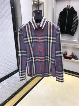 Burberry men's long-sleeved shirt, exquisite LOGO, British button collar design, business casual perfect
