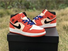 AJ1 MID top, black powder and orange color matching, company grade
