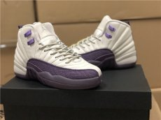 AJ12, white and purple color, company grade, women's shoes