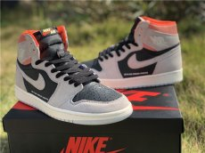 Cspace Air Jordan 1 OG High AJ1 Joe 1 High top grey powder aged
