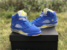 Air Jordan 5 couples, laney color scheme, corporate grade