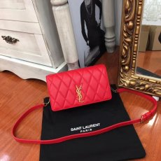 Yves saint Laurent New ANGIE, suede chain bag, flip bag, dinner bag, three zipper bags, adjustable shoulder strap