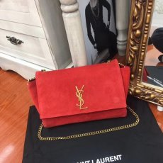 Yves Saint Laurent  new advanced YSL, the first dual-use bag, dual-use magnetic buckle clamshell soft bag, decorated with YSL logo, with a chain shoulder strap two bread