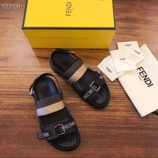 Fendi 19 spring/summer new sandals, elastic binding belt package feet, double color stripe ribbon