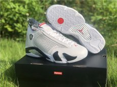 Supreme x Air Jordan 14 white diamond, super league edition, original level