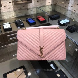 Yves saint Laurent  32cm classic postman's bag, one compartment bag, handle height: 7cm, shoulder strap height: 36.5cm