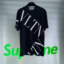 Valentino 19ss new VLTN cross print men's short sleeve T-shirt