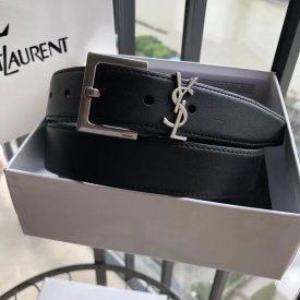 Yves saint Laurent  3.0cm women's belt, vintage seiko metal buckle will restore the vintage style and modern fashion fusion
