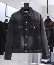 Balenciaga 19SS back letter denim jacket