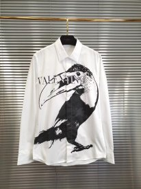 Valentino 19 SS Early autumn men toucan letter logo printed casual shirt