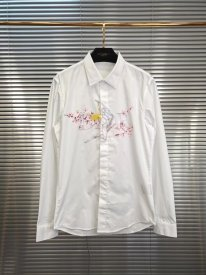 Dior New kaw Empty mountain base long sleeve dragon lady Men's and women's shirts for business casual