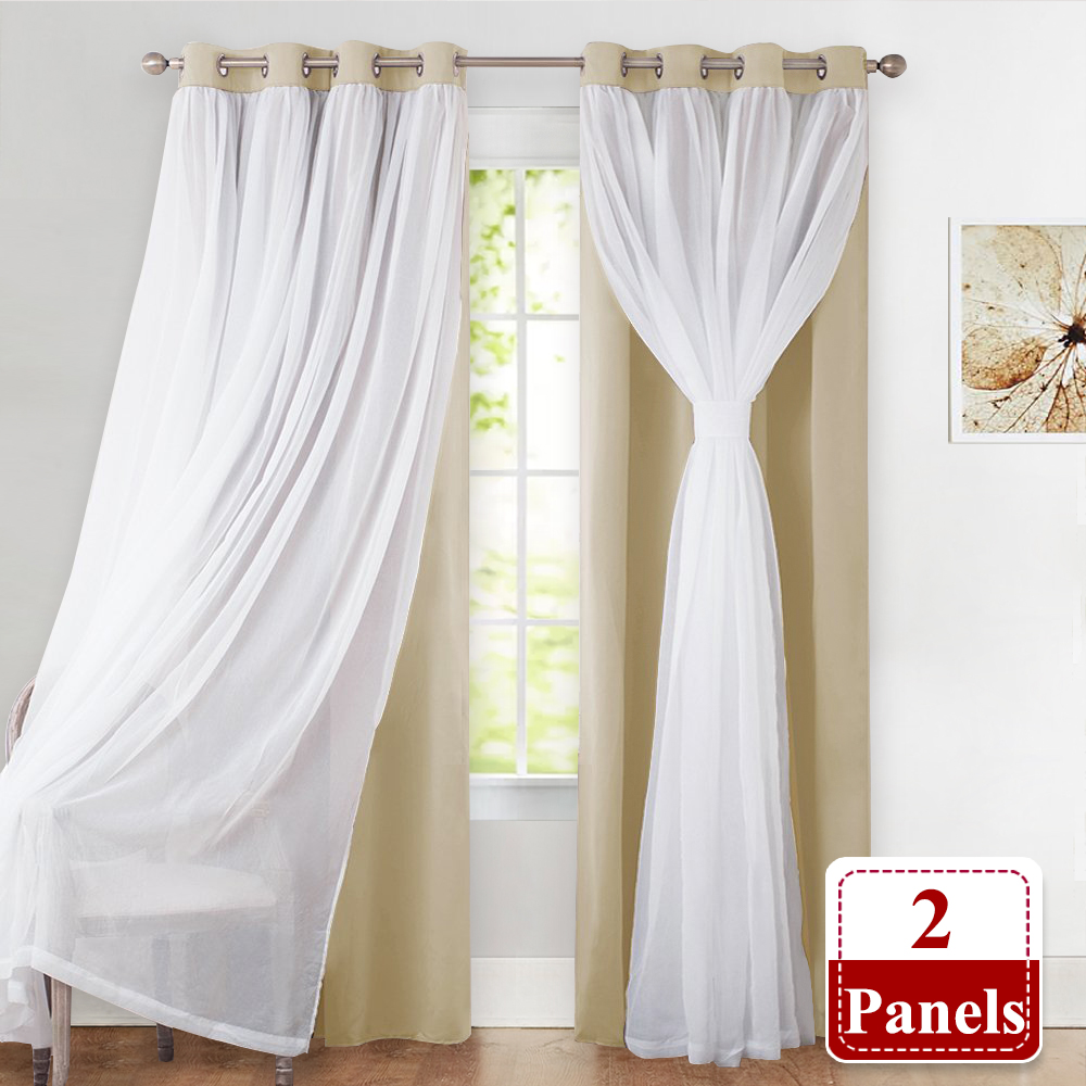 Blackout Curtains Sheer Voile