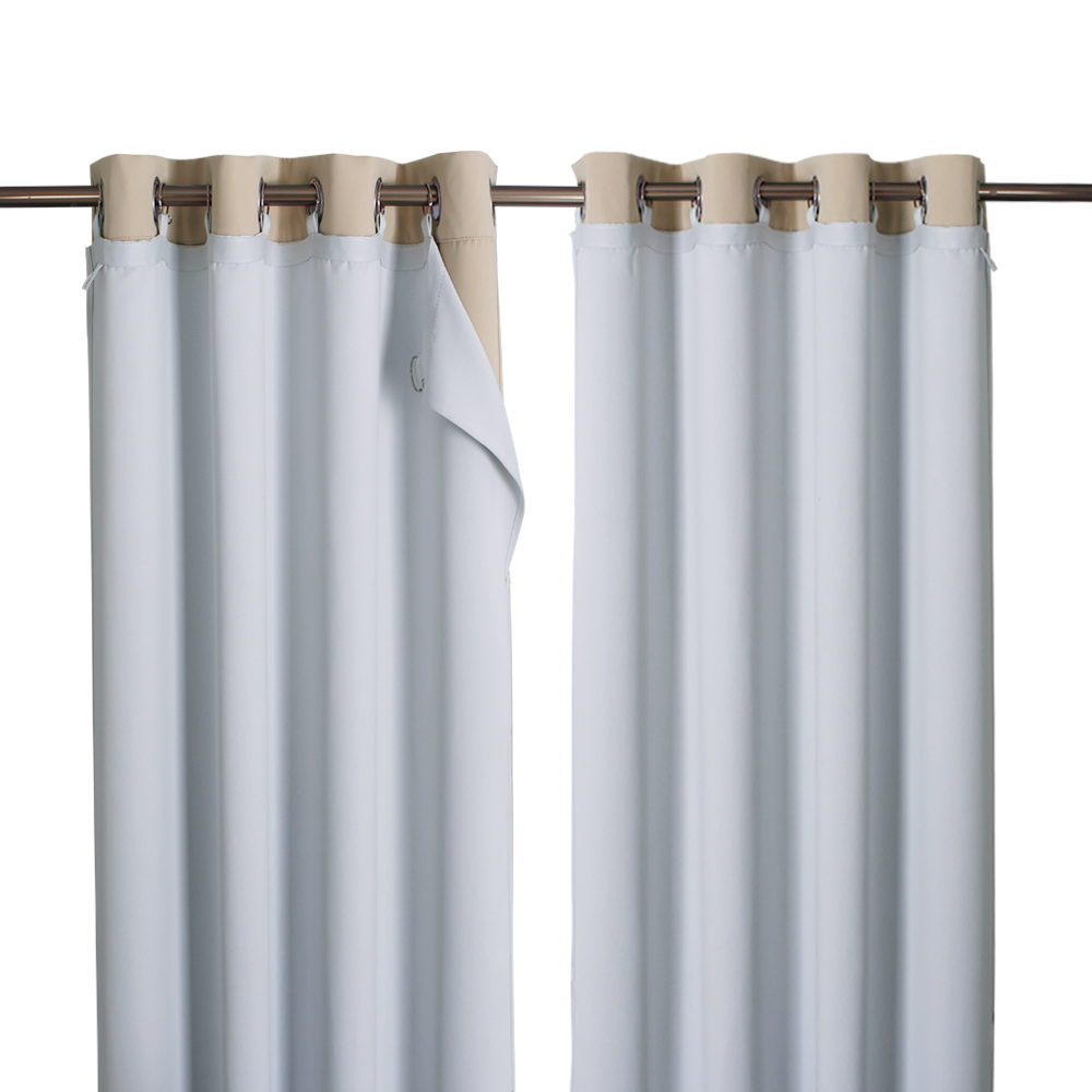 Blackout Curtain Liner for Windows, Detachable Ring Included