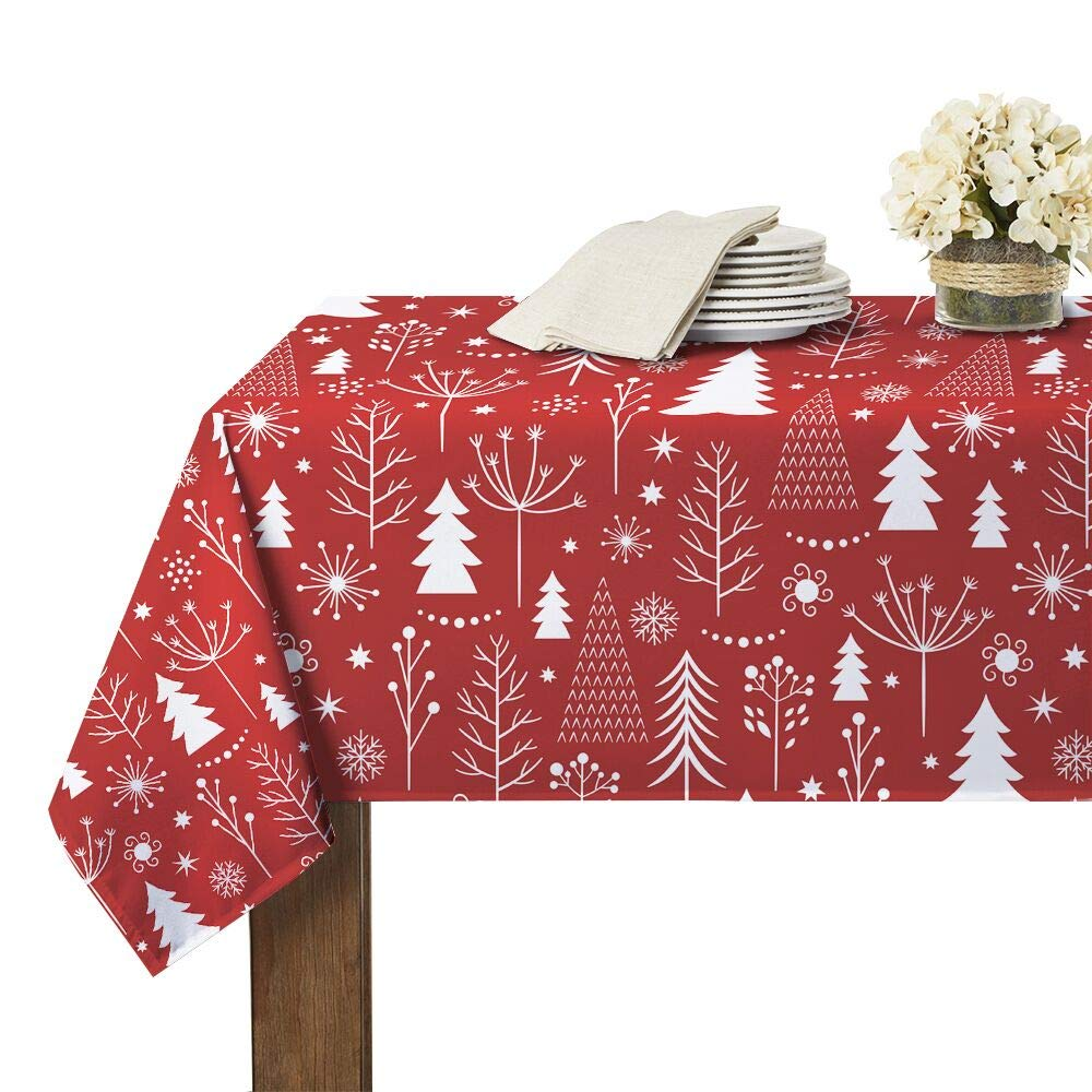 Christmas Tablecloth Rectangle Waterproof for Parties