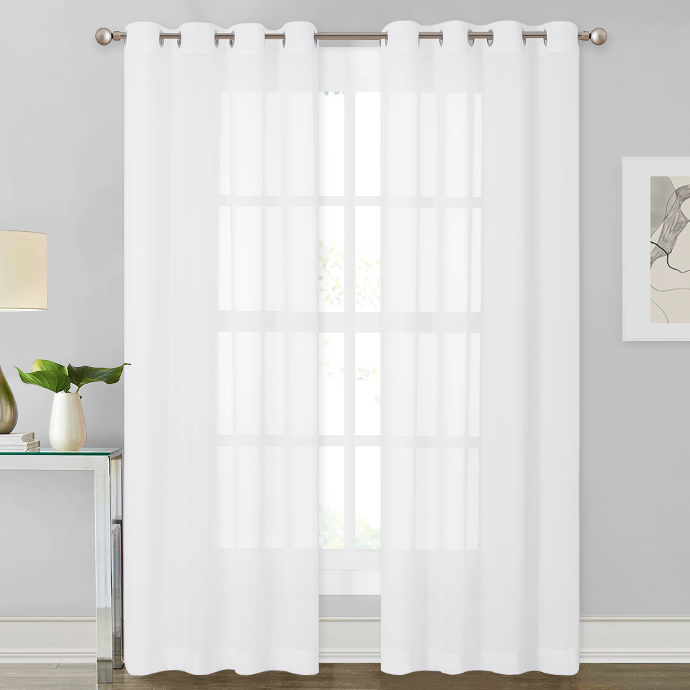 Chiffon Soft Silky Texture Curtain,Sold as 1 Panel