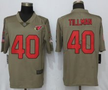 New Nike Arizona Cardinals 40 Tillman Olive Salute To Service Limited Jersey