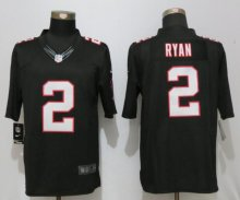 New Nike Atlanta Falcons 2 Ryan Black Limited Jersey