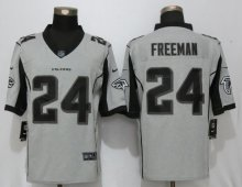 New Nike Atlanta Falcons 24 Freeman Nike Gridiron Gray II Limited Jersey