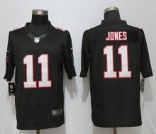 New Nike Atlanta Falcons 11 Jones Black Limited Jersey
