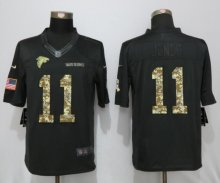 New Nike Atlanta Falcons 11 Jones Anthracite Salute To Service Limited Jersey