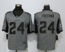 New Nike Atlanta Falcons 24 Freeman Gray Men's Stitched Gridiron Gray Limited Jersey