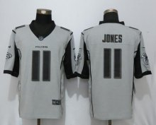 New Nike Atlanta Falcons 11 Jones Nike Gridiron Gray II Limited Jersey