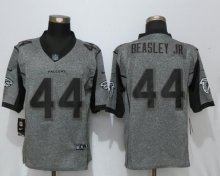New Nike Atlanta Falcons 44 Beasley jr Gray Men's Stitched Gridiron Gray Limited Jersey