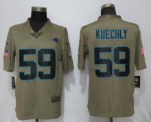 Nike Carolina Panthers 59 Kuechly Olive Salute To Service Limited Jersey