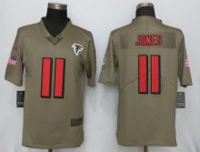 New Nike Atlanta Falcons 11 Jones Olive Salute To Service Limited Jersey