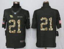 New Nike Arizona Cardinals 21 Peterson Anthracite Salute To Service Limited Jersey