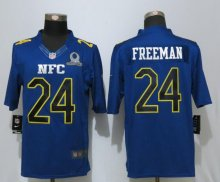 New Nike Atlanta Falcons 24 Freeman Nike Navy 017 Pro Bowl Limited Jersey