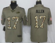 New Nike Buffalo Bills 17 Allen Olive Camo Carson 2017 Salute to Service Limited Jersey