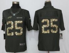 New Nike Buffalo Bills 25 McCoy Anthracite Salute To Service Limited Jersey