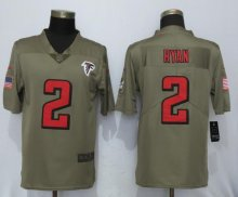 New Nike Atlanta Falcons 2 Ryan Olive Salute To Service Limited Jersey