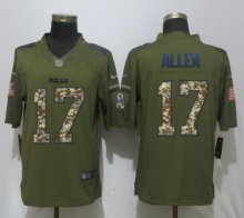 New Nike Buffalo Bills 17 Allen Green Salute To Service Limited Jersey