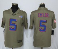 New Nike Buffalo Bills 5 Taylor Olive Salute To Service Limited Jersey