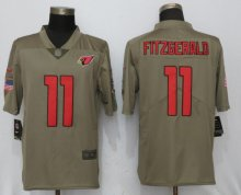 New Nike Arizona Cardinals 11 Fitzgerald Olive Salute To Service Limited Jersey