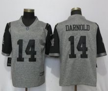 Nike New York Jets 14 Darnold Gray 2017 Vapor Untouchable Men's Stitched Gridiron Gray Limited Jersey