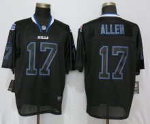 New Nike Buffalo Bills 17 Allen Lights Out Black Elite Jerseys