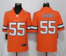 NEW Nike Denver Broncos 55 Chubb Navy Orange Color Rush Limited Jersey