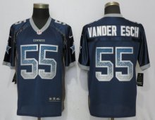 NEW Nike Dallas cowboys 55 Vander esch Drift Fashion Blue Elite Jerseys