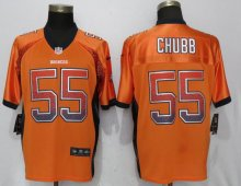 NEW Nike Denver Broncos 55 Chubb Drift Fashion Orange Elite Jersey