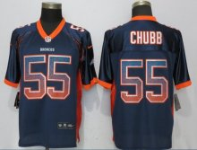 NEW Nike Denver Broncos 55 Chubb Drift Fashion Blue Elite Jersey