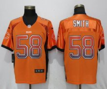 NEW Nike Chicago Bears 58 Smith Drift Fashion Orange Elite Jerseys