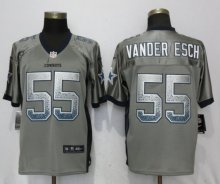 NEW Nike Dallas cowboys 55 Vander esch Drift Fashion Gray Elite Jerseys