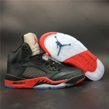 Air Jordan 5 red and black